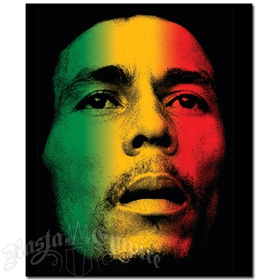 Bob Marley Face Fleece Throw