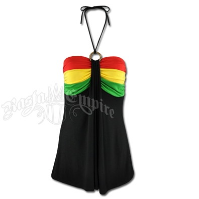 Rasta and Reggae String Tie Top