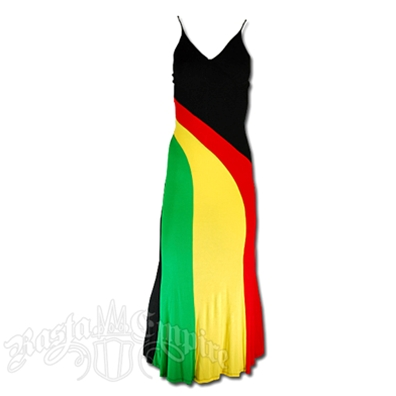 Rasta and Reggae Long Wave Dress