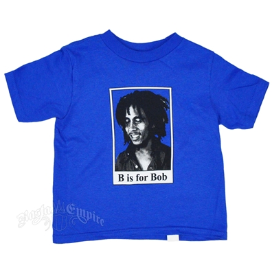 "Bob Marley ""B"" Is For Bob  Royal Blue T-Shirt - Toddler's"