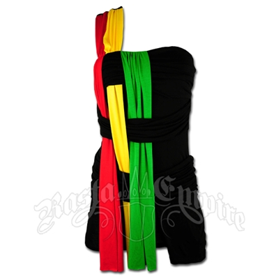 Rasta and Reggae Over One Shoulder With Attached Shorts