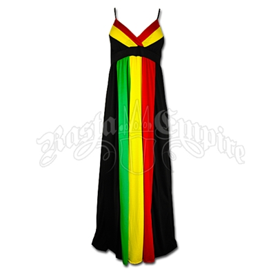 Rasta and Reggae Long Empress Dress