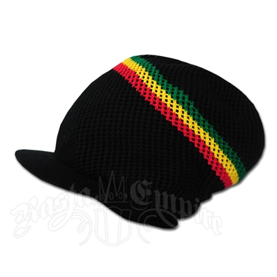 Rasta Deep Crown Cotton Beanie Cap - Black