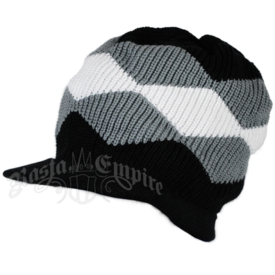 Waves Cotton Cap with Visor - White/Gray/Black