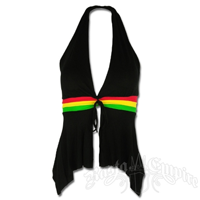 Rasta and Reggae Halter Neck Open Back Top