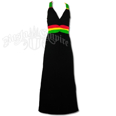 Rasta and Reggae Bungee Straps Long Dress