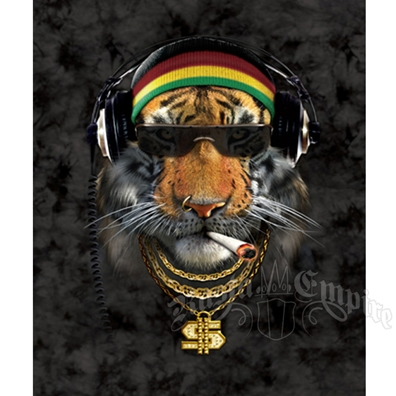 Rasta Saber Tiger Luxury Plush Blanket