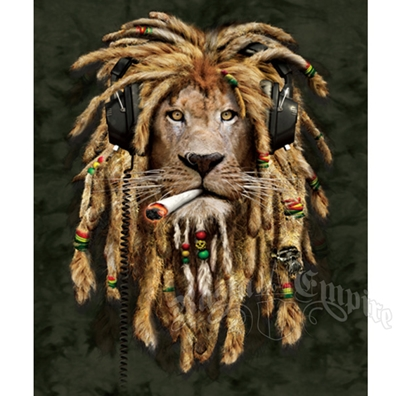 Rasta Lion Plush Blanket