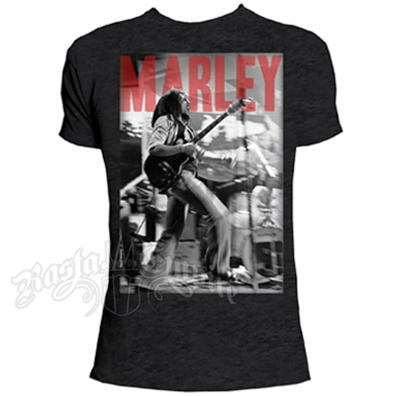 Bob Marley Stage Charcoal T-Shirt - Men's