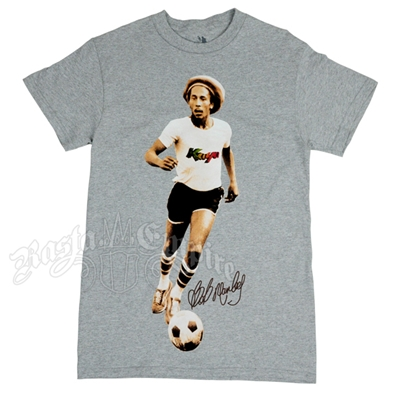 Bob Marley Kaya Soccer Heather Grey T-Shirt - Men's