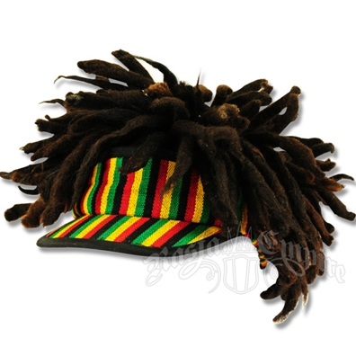 Rasta Visor Cap With Dreadlocks