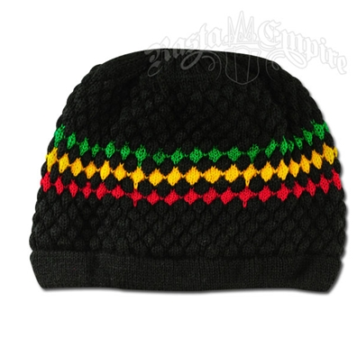 Rasta and Reggae Knit Black Beanie