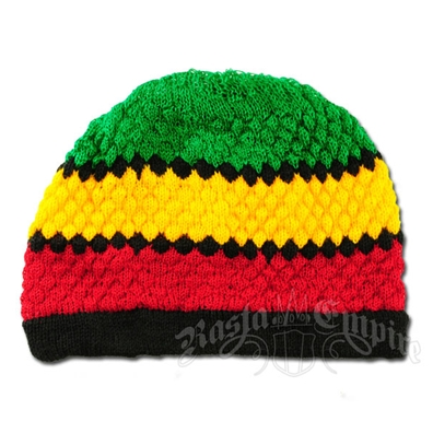 Rasta and Reggae Striped Knit Beanie
