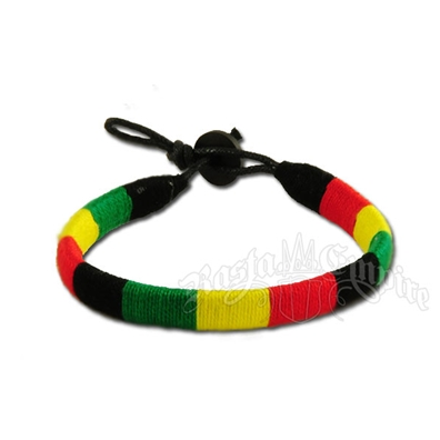 Rasta Wrapped Bracelet