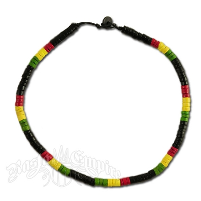 Rasta Coco Beads Necklace