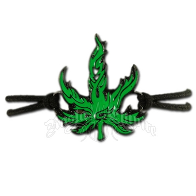 Marijuana Leaf Stretch Cord Bracelet