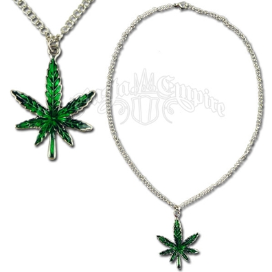 Marijuana Leaf Charm Necklace