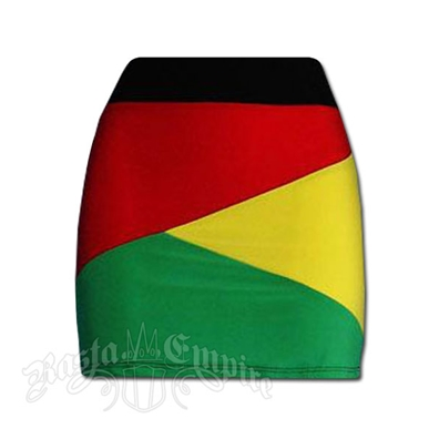 Rasta and Reggae Color Block Mini Skirt