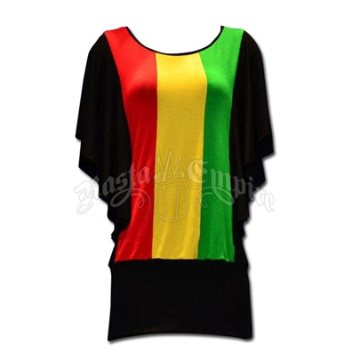 Rasta and Reggae Dolman Tunic Top