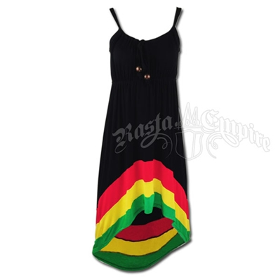 Rasta High/Low Dress