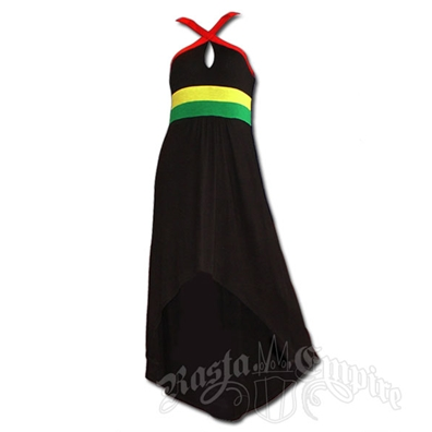 Rasta High/Low Criss Cross Dress