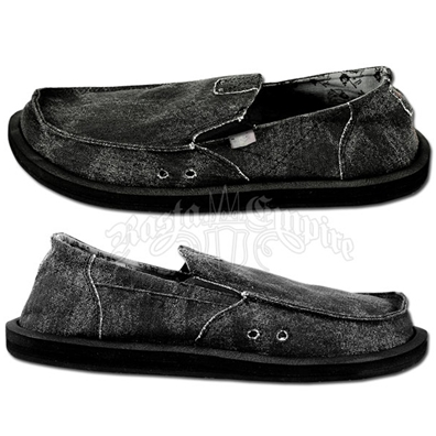 Sanuk Kingston Black Canvas Shoes
