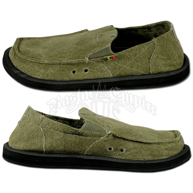 Sanuk Kingston Sage Green Canvas Shoes