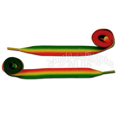 Rasta Stripe Fade Shoelaces - Thick