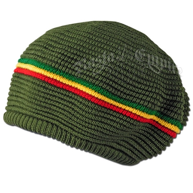 Rasta Stripes Olive Tam