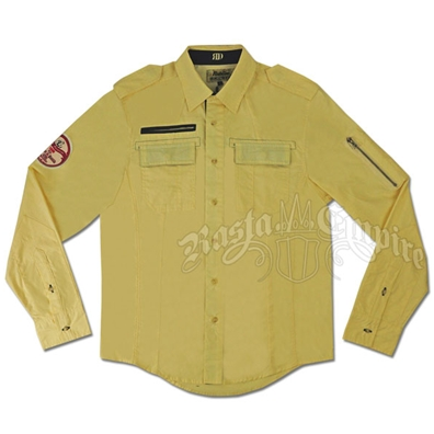 Riddem Driven Woven Button Down Yellow Long Sleeve - Men's
