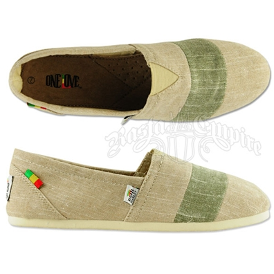 Bob Marley Rita Stripe Chambray Sand Shoes - Women's
