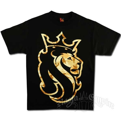 Desert Rasta Lion Black T-Shirt - Men's