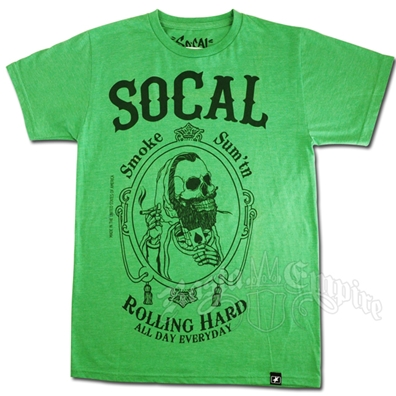 SoCal 'Rolling Hard' Green T-shirt - Men's