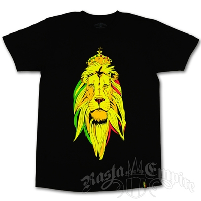 Unity Gold Crown Lion Black T-Shirt - Men's