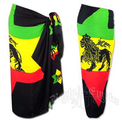 Rasta and Reggae Lion Star Sarong
