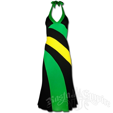 Jamaican Long Halter Dress