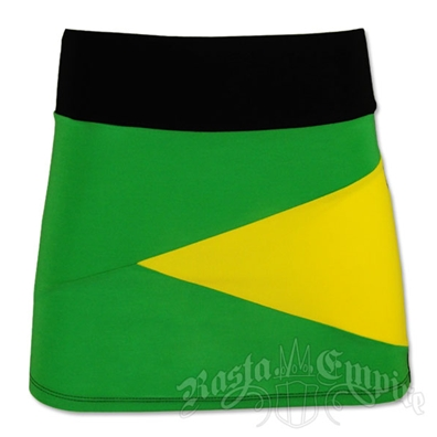 Jamaican Color Block Mini Skirt