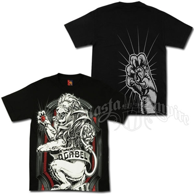 Lion Crest Black T-Shirt - Men's