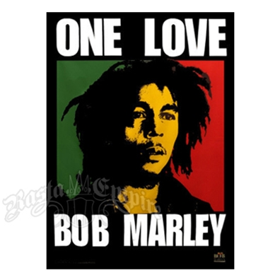 "Bob Marley One Love Tapestry 60"" x 90"""