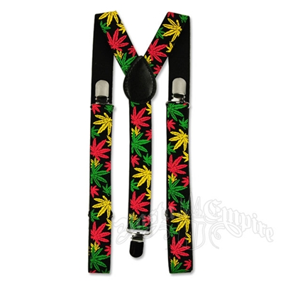 Rasta Leaves Suspenders