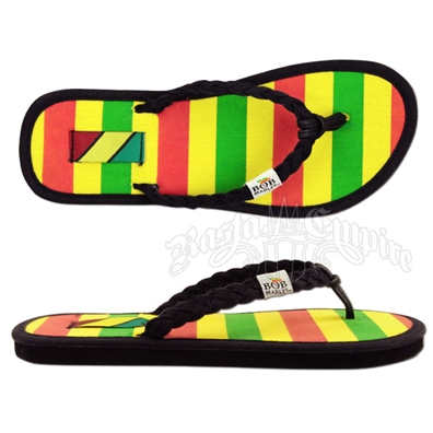 Bob Marley Natty Rasta Striped Sandals - Women's