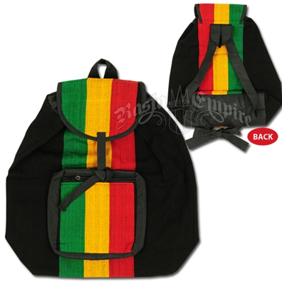 Rasta Striped Cinched Backpack