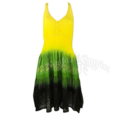 Jamaican Tie Dye Halter Dress