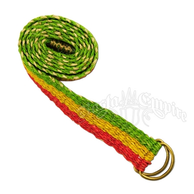 Hemp Wide Rasta Stripe Belt