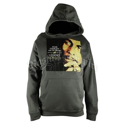 Bob Marley Legend Remixed Charcoal Hoodie - Men's