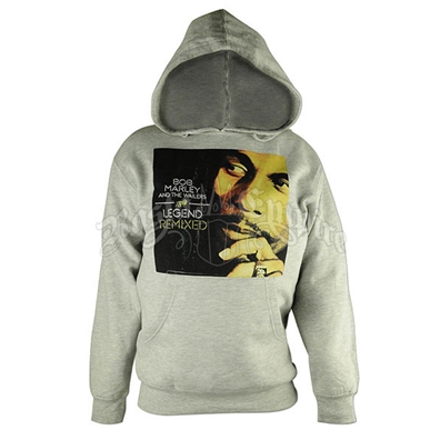 Bob Marley Legend Remixed Heather Grey Hoodie - Men's