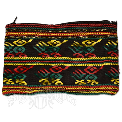 Rasta and Reggae Striped Coin Purse - Large