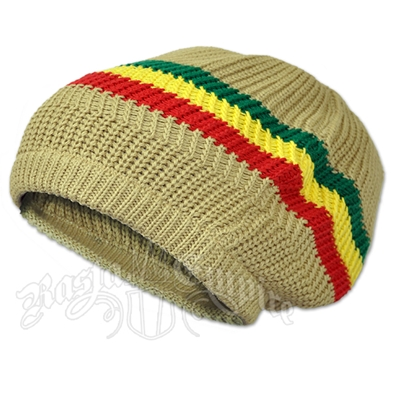 Rasta Stripes and Tan Tam Headwear