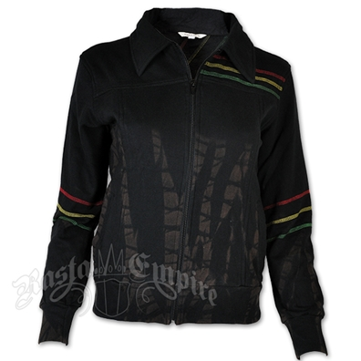 Rasta Black Tie Dye Jacket - Women's