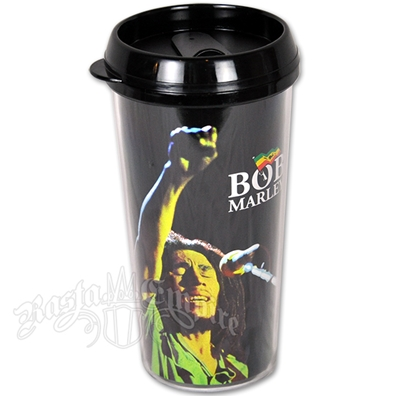 Bob Marley Fist 16oz Plastic Travel Mug